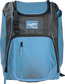 Front of a Columbia blue Franchise baseball backpack with gray accents and a Columbia blue Rawlings patch - SKU: FRANBP-CB image number null