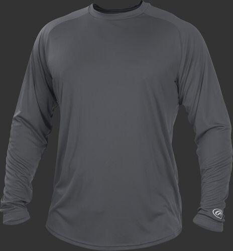 Gray YLSRT Youth crew neck long sleeve shirt