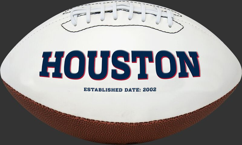 White NFL Houston Texans Football With Team Name SKU #06541093811