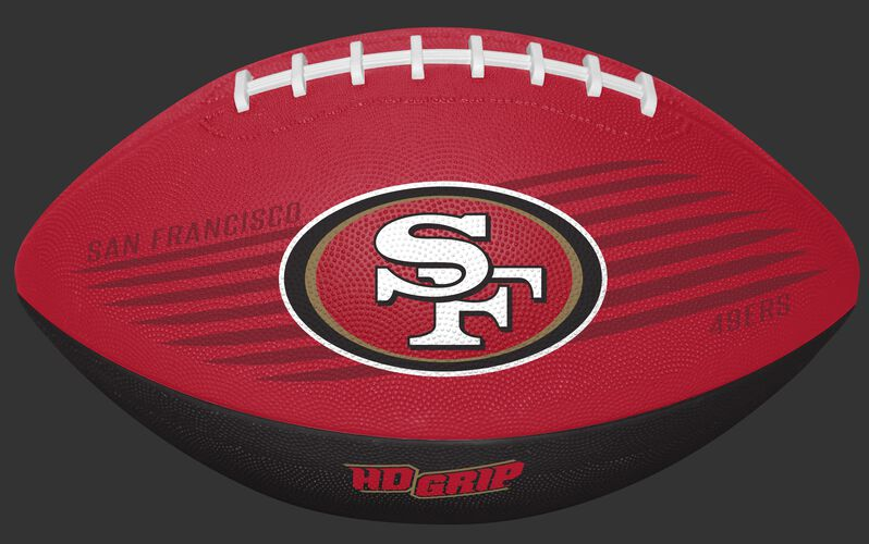 Scarlet and Black NFL San Francisco 49ers Downfield Youth Football With Team Logo SKU #07731084121
