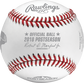 An official ALCS18CHMP 2018 American League Champions baseball with the league commissioner's signature