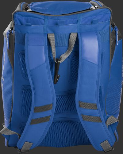 Back of a royal Rawlings Legion backpack with royal shoulder straps - SKU: LEGION-R