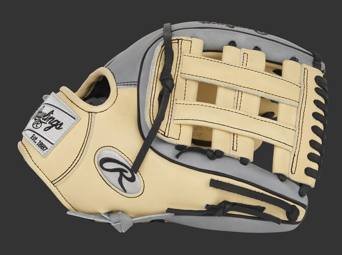 Thumb of a camel/gray exclusive Heart of the Hide 11.75-Inch infield glove with a camel H-web - SKU: PRO315-6CG