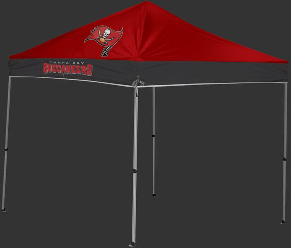Rawlings Red and Grey NFL Tampa Bay Buccaneers 9x9 Canopy Shelter With Team Logo and Name SKU #03231086111