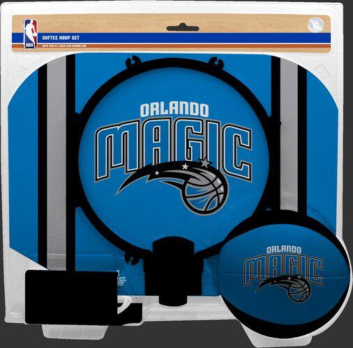 Rawlings Blue and Black NBA Orlando Magic Hoop Set With Team Logo On Ball and Backboard SKU #03544206114