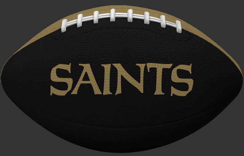 Black side of a New Orleans Saints Gridiron tailgate football with team name SKU #09501077121