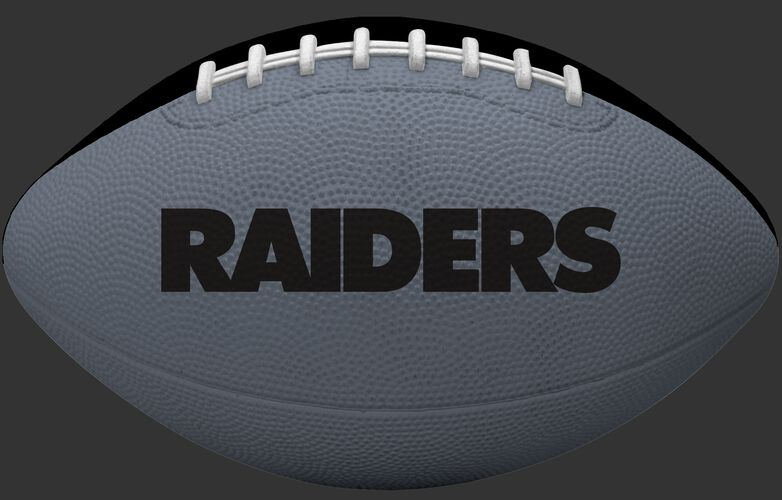Grey side of an Oakland Raiders Gridiron tailgate football with team name SKU #09501072121