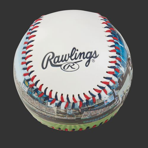 Rawlings logo on a Minnesota Twins team stadium ball