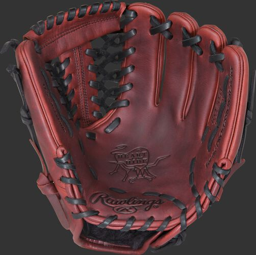 PRO204P 11.5-inch Heart of the Hide infield/pitcher's glove with a dark sherry palm, dark sherry web and black laces
