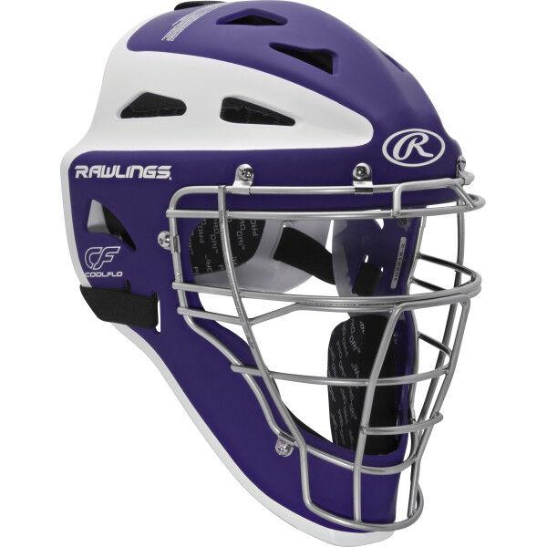 Velo Adult Catchers Helmet Purple/White