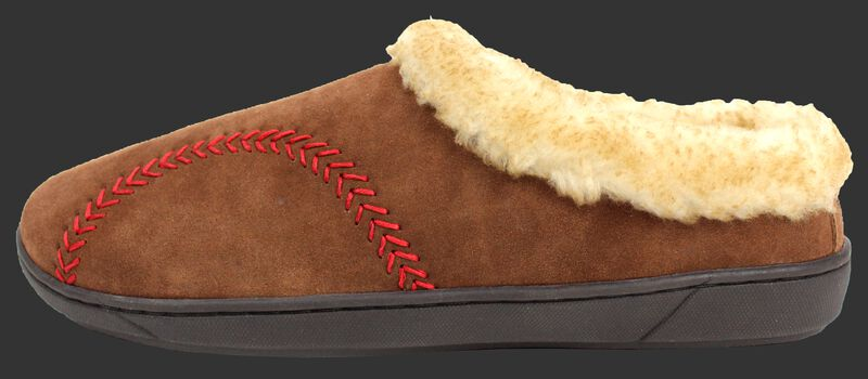 Left side of a RF50005-200 Men's baseball stitch hooded clog with a baseball stitch pattern