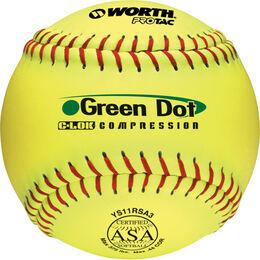ASA 11 in Green Dot Softballs (YS11RSA3)