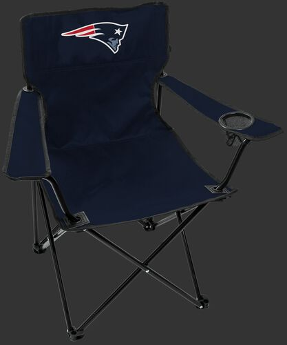 Front of Rawlings Navy Blue NFL New England Patriots Gameday Elite Chair With Team Logo SKU #00551076111