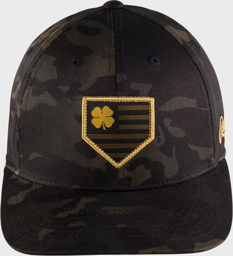 Rawlings Black Clover Camouflage Snapback Hat
