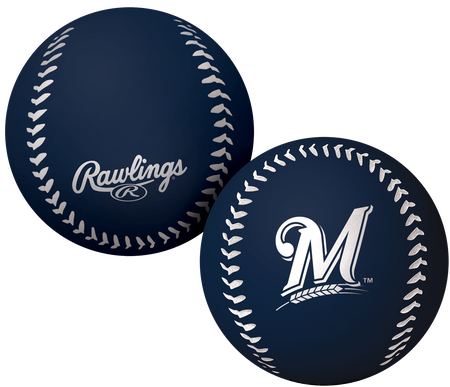 A navy Milwaukee Brewers Big Fly bounce ball