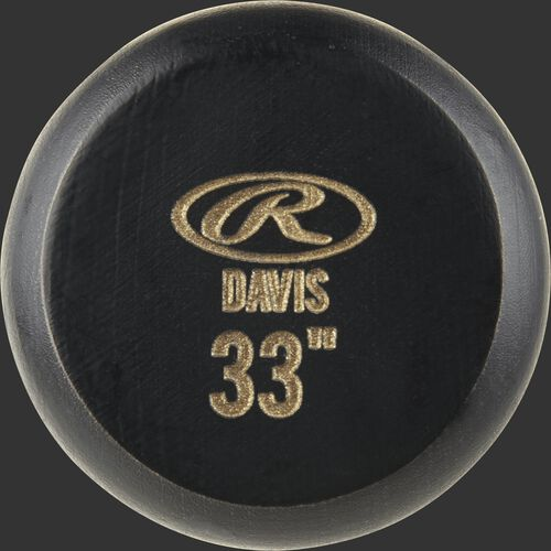 Black know of a KD2PL Rawlings Khris Davis pro label bat