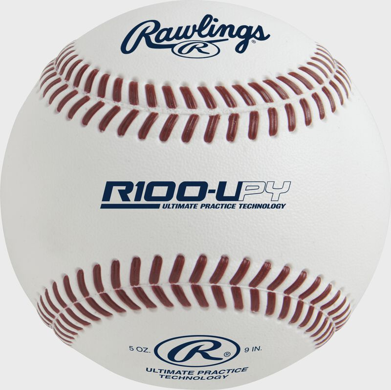 R100-UPY Ultimate Practice Technology youth baseball with raised, molded seams