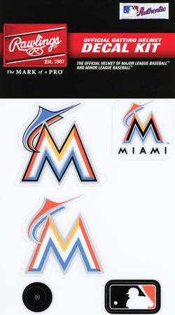 MLB Miami Marlins Decal Kit