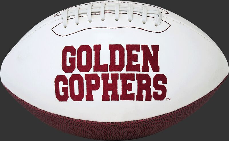 White NCAA Minnesota Golden Gophers Football With Team Name SKU #05733085811