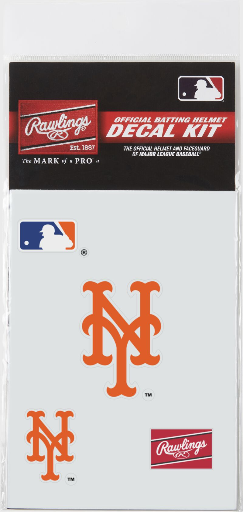 A New York Mets replica decal kit