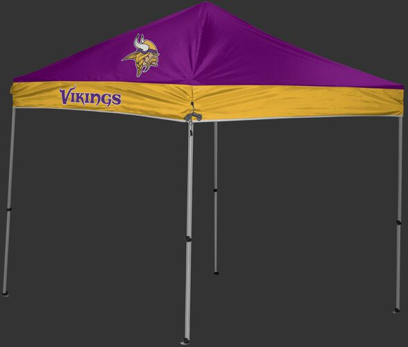 Rawlings Purple and Gold NFL Minnesota Vikings 9x9 Canopy Shelter With Team Logo and Name SKU #03231075111