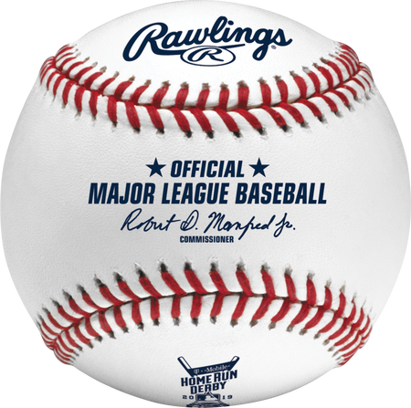 ROMLBHR19 Official MLB baseball commemorating the 2019 MLB Home Run Derby
