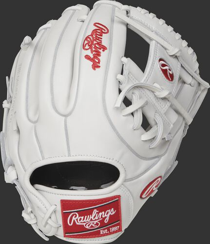 RLA715-2W 11.75-inch Liberty Advanced infield fastpitch glove with a white back and white double-welting