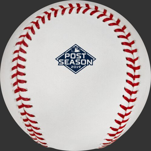 2019 Post Season logo on the ROMLBPS19 MLB Post Season ball
