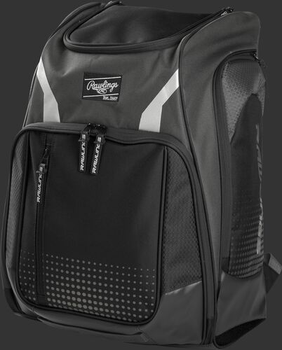 Front angle view of a gray Legion equipment backpack - LEGION-GR