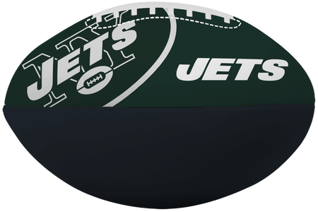NFL New York Jets Big Boy softee football in team colors and featuring team logos