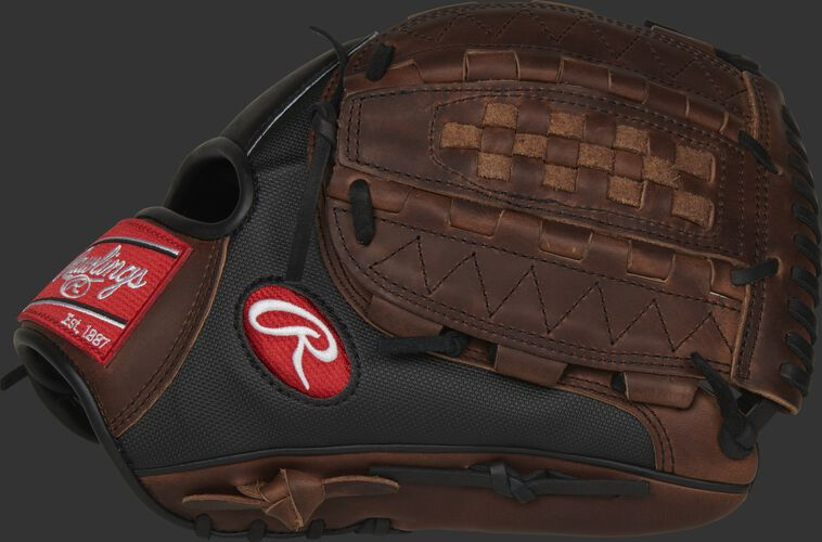Thumb of a 12.25-Inch Heart of the Hide Speed Shell infield/pitcher's glove with a timberglaze vertical Hinge web - SKU: PRO1000-14DMSSPRO