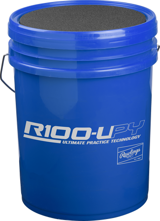 R100UPYBUCK24 Blue bucket of youth Ultimate Practice Technology baseballs