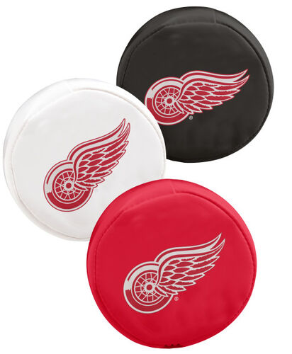Rawlings NHL Detroit Red Wings Three Puck Softee Set With Black, White, and Red Pucks and Team Logo SKU #00614116111