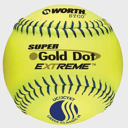 USSSA 12 in Gold Dot Softballs (UC12CYXT)