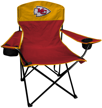 NFL Kansas City Chiefs Lineman chair with team colors and logo on the back