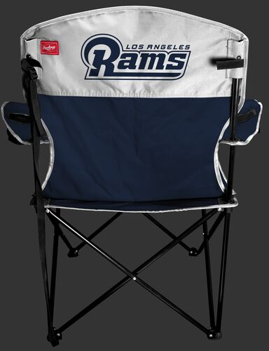 Back of Rawlings Silver and Navy NFL Los Angeles Rams Lineman Chair With Team Name SKU #31021073111