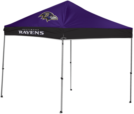 NFL Baltimore Ravens 9x9 shelter with 4 team logos