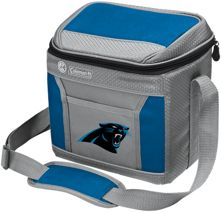 Rawlings Carolina Panthers 9 Can Cooler In Team Colors With Team Logo On Front SKU #03281090111