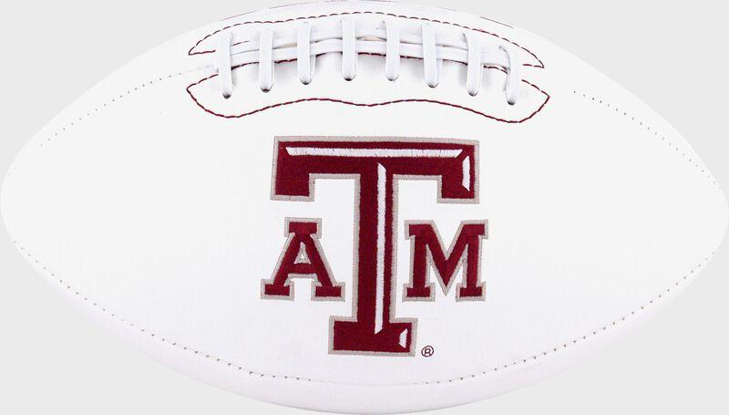 White NCAA Texas A&M Aggies Football With Team Logo SKU #05733061121