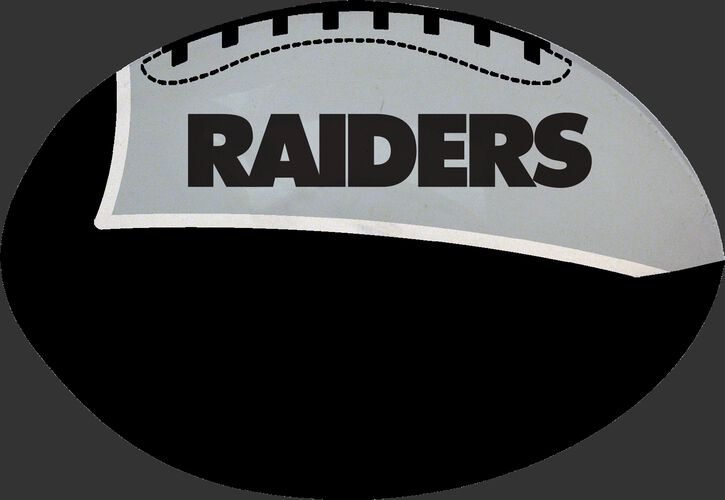 Black and Silver NFL Oakland Raiders Football With Team Name SKU #07831072111