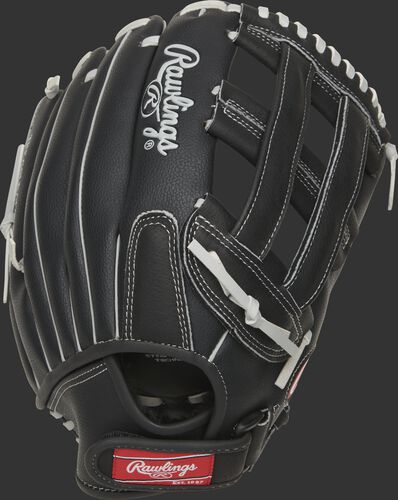 RSB130GBH RSB 13-Inch H-web outfield glove with a black back and Velcro wrist strap design