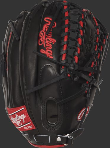 PROSMT27 12.75-inch Mike Trout Game Day outfield glove with a black kip leather back