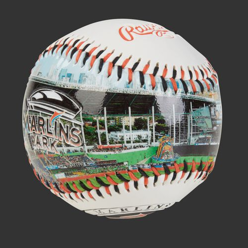 Stadium picture of a Miami Marlins stadium baseball