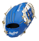 Back of a blue/white Kansas City Royals 10-inch I-web glove with a red Rawlings patch - SKU: 22000026111 image number null