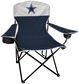 A Dallas Cowboys lineman chair with the team logo on the back  image number null