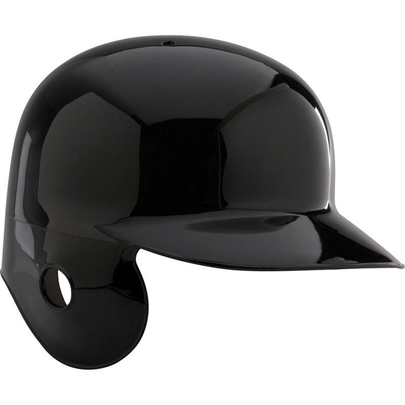 A black MPBHSR Adult single flap batting helmet for left-handed batters