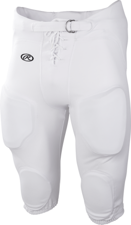 White FPPI Youth Lightweight Polyester football pants