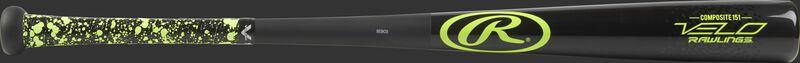 Y151CV Velo senior league composite wood bat with a black barrel and black handle