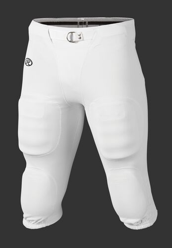 Front of Rawlings White Adult Slotted Football Pant - SKU #FP147