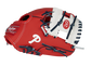 A red/white Philadelphia Phillies 10-inch team logo glove with a white I-web and Phillies logo on the thumb - SKU: 22000020111 image number null